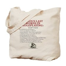 Last Words Tote Bag