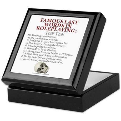 Last Words Keepsake Box