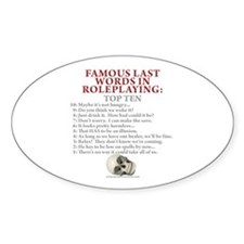 Last Words Oval Decal