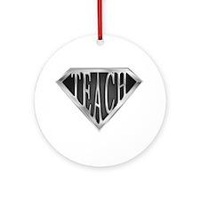 SuperTeach(metal) Ornament (Round)