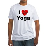I Love Yoga (Front) Fitted T-Shirt