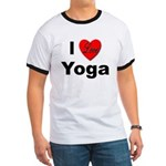 I Love Yoga Ringer T