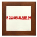1st Rule of Chess Club Framed Tile