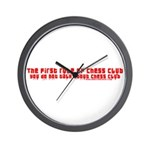 1st Rule of Chess Club Wall Clock