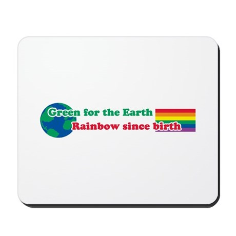 Green Rainbow Mousepad