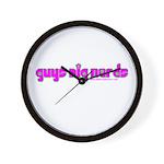 Guys Dig Nerds Wall Clock