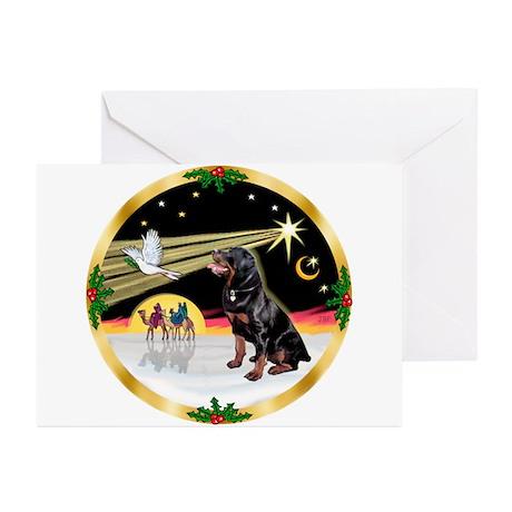 XmasDove/Rottweiler #6 Greeting Cards (Pk of 20)
