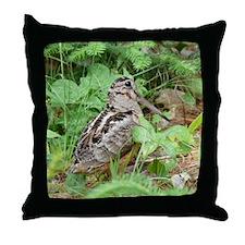 Female Woodcock Throw Pillow