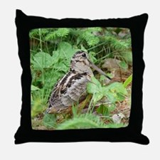 Female Woodcock Throw Pillow
