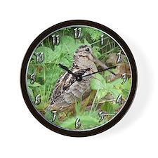 Female Woodcock Wall Clock