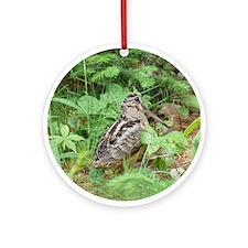 Female Woodcock Ornament (Round)