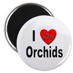 I Love Orchids Magnet