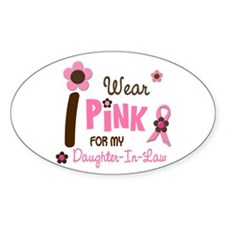 I Wear Pink For My Daughter-In-Law 12 Decal