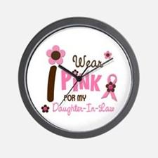 I Wear Pink For My Daughter-In-Law 12 Wall Clock