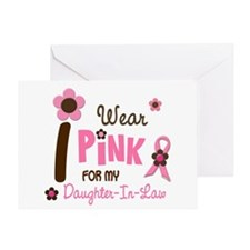 I Wear Pink For My Daughter-In-Law 12 Greeting Car