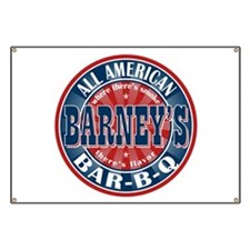 Barney's All American BBQ Banner
