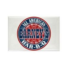 Barney's All American BBQ Rectangle Magnet