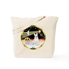 XmasDove/Bull Terrier Tote Bag