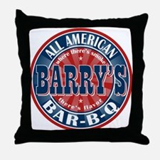 Barry's All American BBQ Throw Pillow