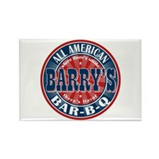 Barry's All American BBQ Rectangle Magnet
