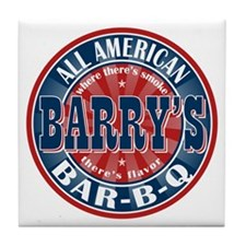 Barry's All American BBQ Tile Coaster