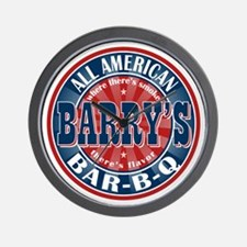 Barry's All American BBQ Wall Clock