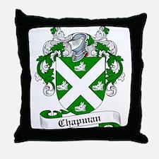 Chapman Family Crest Throw Pillow