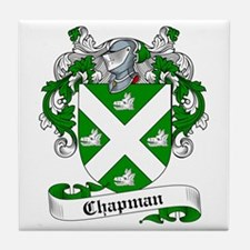 Chapman Family Crest Tile Coaster