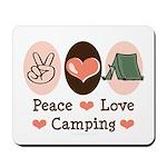 Peace Love Camping Mousepad