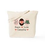 Peace Love Camping Tote Bag