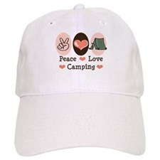 Peace Love Camping Baseball Cap