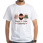 Peace Love Camping White T-Shirt