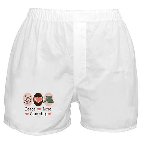 Peace Love Camping Boxer Shorts