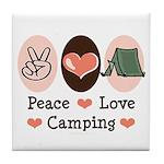 Peace Love Camping Tile Coaster