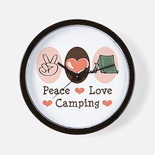 Peace Love Camping Wall Clock