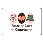 Peace Love Camping Banner
