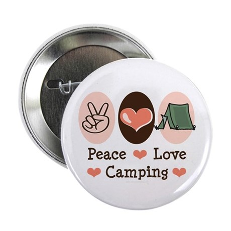 """Peace Love Camping 2.25"""" Button (10 pack)"""