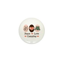 Peace Love Camping Mini Button (100 pack)