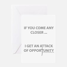Attack of Opportunity Greeting Card