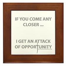 Attack of Opportunity Framed Tile