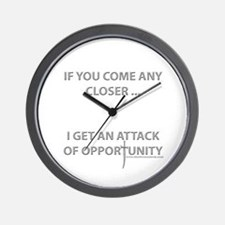 Attack of Opportunity Wall Clock