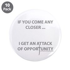 """Attack of Opportunity 3.5"""" Button (10 pack)"""