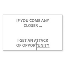 Attack of Opportunity Rectangle Decal