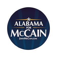 "Alabama for McCain 3.5"" Button"