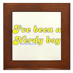 I've Been A Nerdy Boy Framed Tile