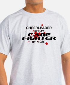 Cheerleader Cage Fighter by Night T-Shirt