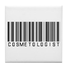 Cosmetologist Barcode Tile Coaster