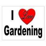 I Love Gardening Small Poster