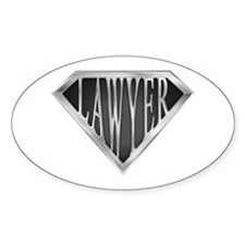 SuperLawyer(metal) Oval Decal