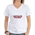 I Said I Built A Math Lab Women's V-Neck T-Shirt